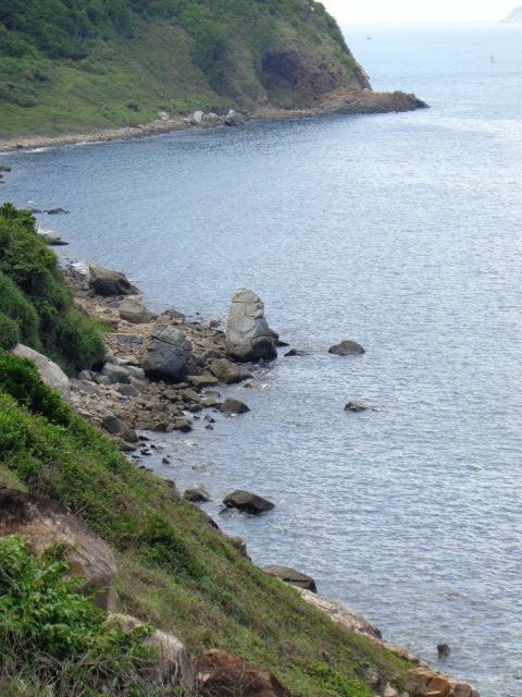 Rugged coastline in Con Dao