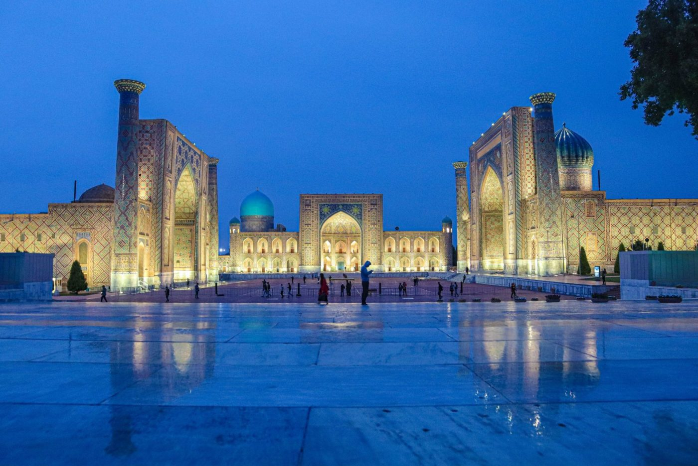 Samarkand, Uzbekistan, which Lucy and Matt saw whilst travelling as a couple