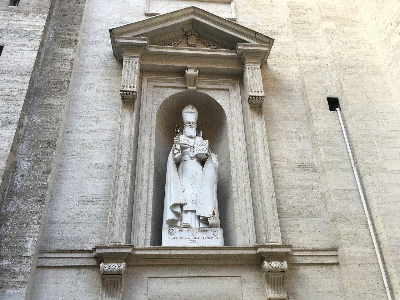A statue of St. Gregorius at Vatican City