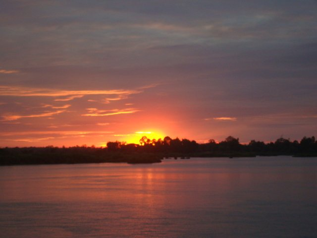 Sunset in Laos