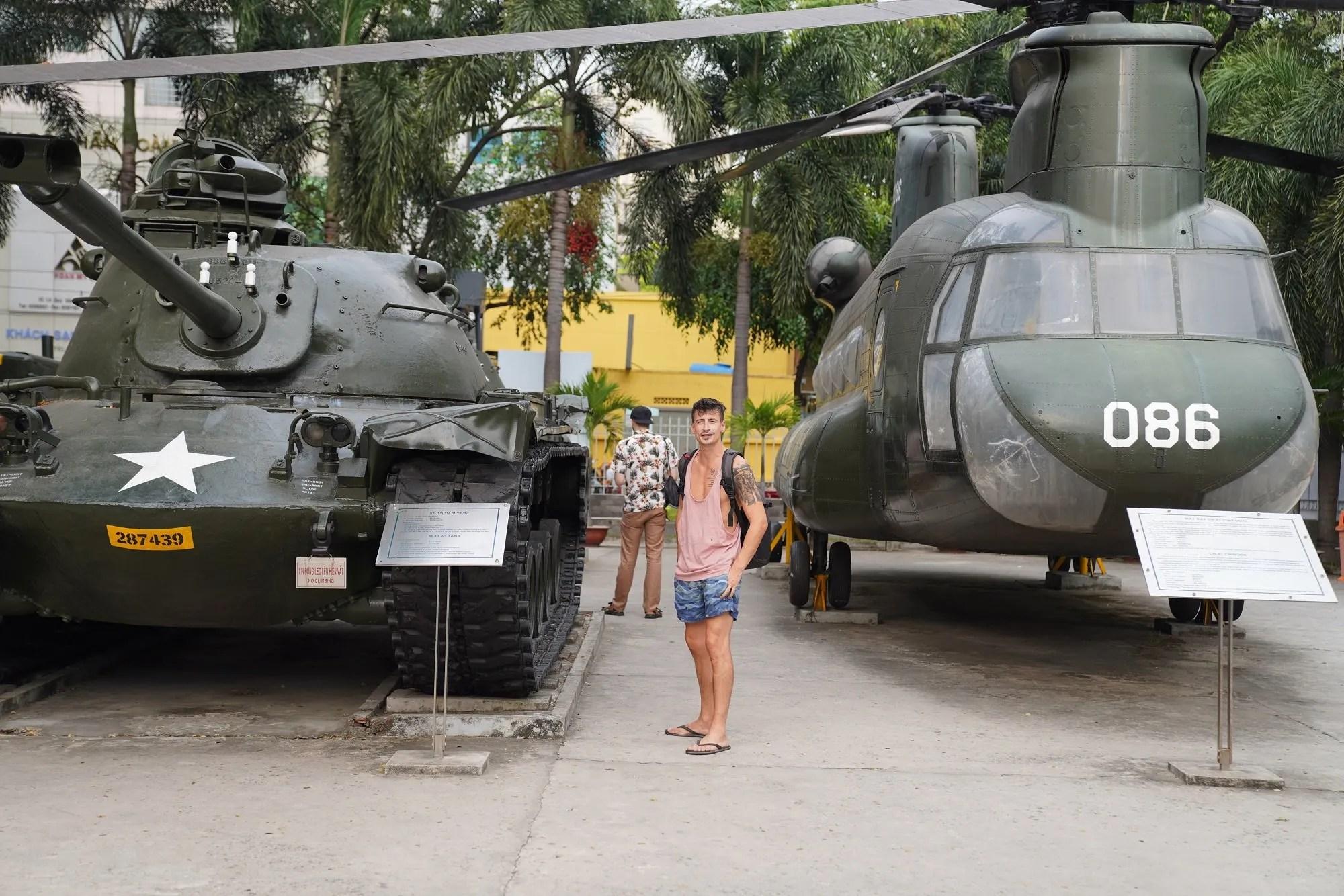 Catalin at the War Remnants Museum in Vietnam