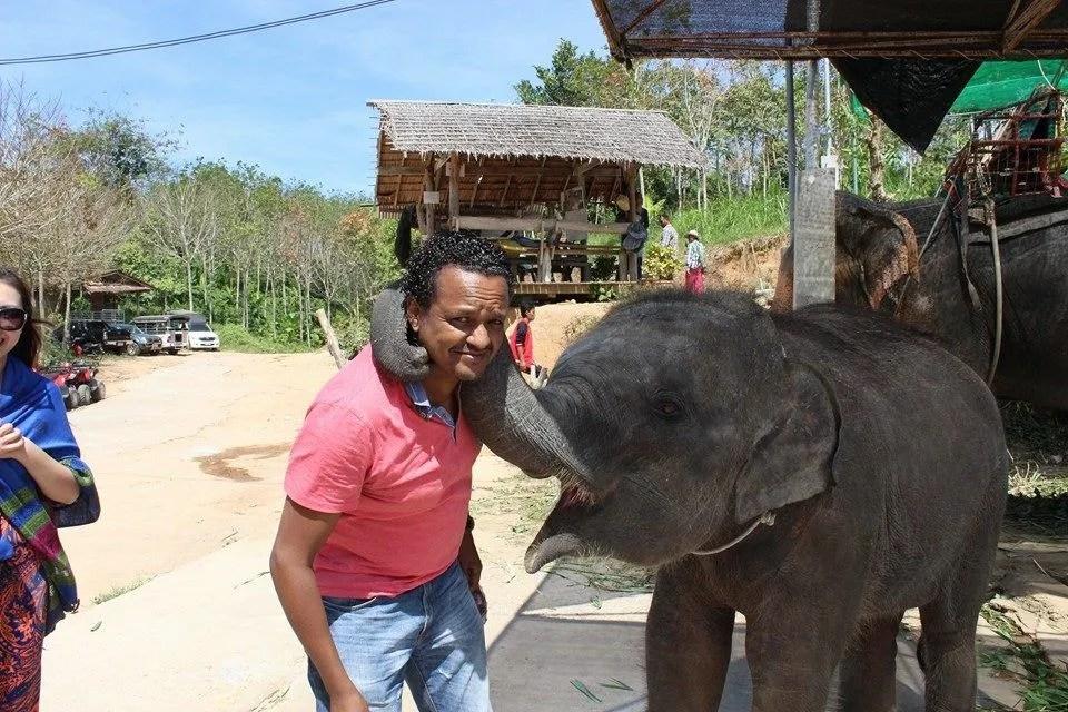 baby elephant abroad