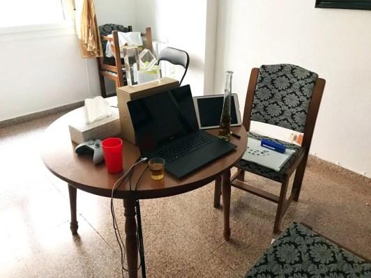 online teaching desk