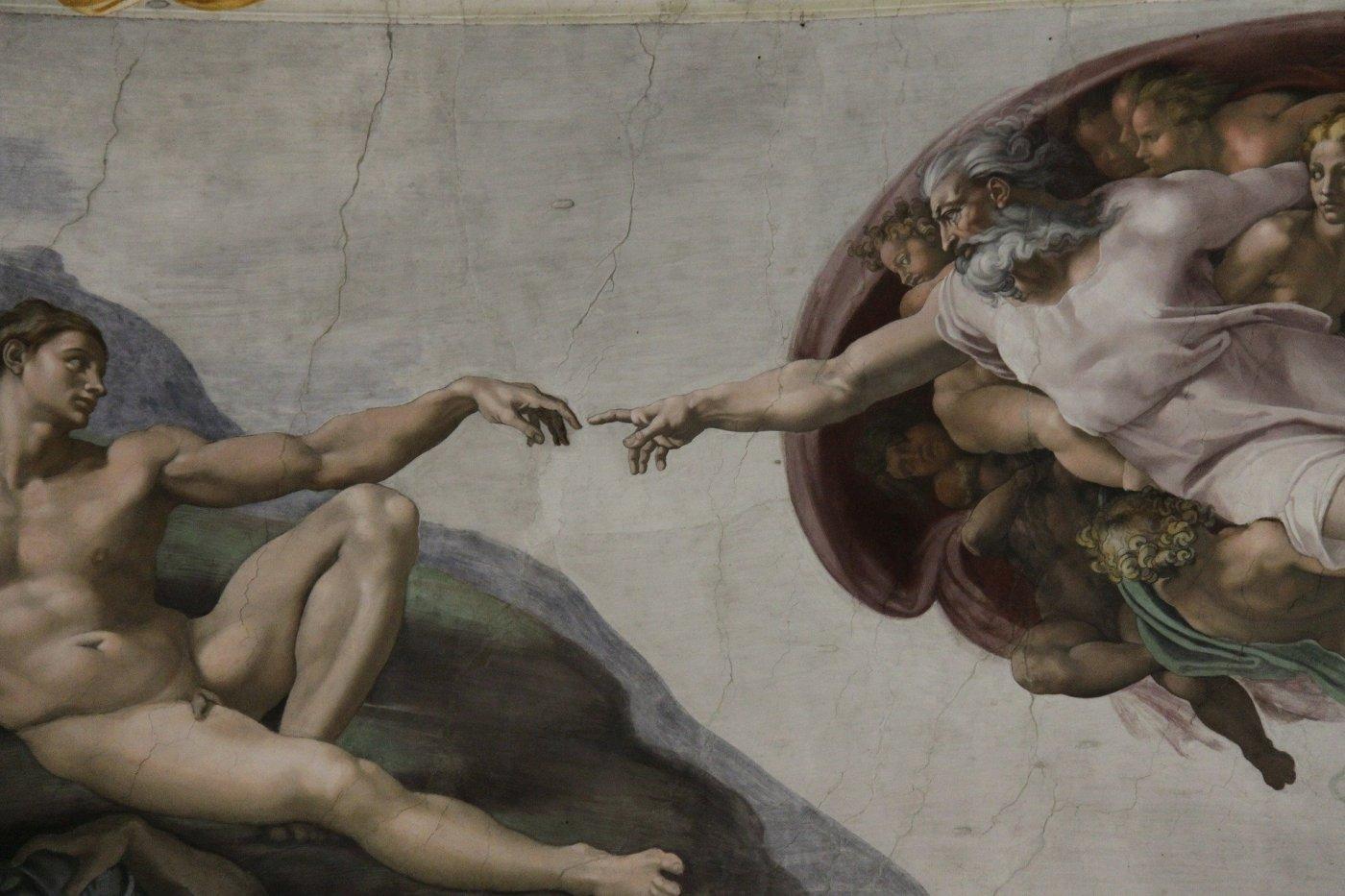 The Creation of Adam by Michelangelo, Sistine Chapel, Vatican City