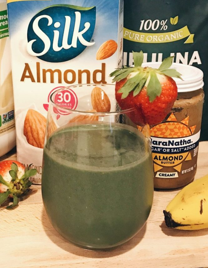 Vegan Green Energy Smoothie with Paleo Ingredients