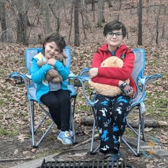 Lea and Eli at Campsite