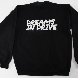 dreams in drive black crewneck