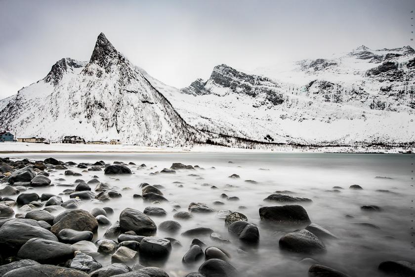 montagne senja tromso hiver Norvège fjord