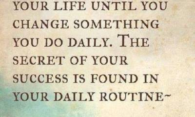 Inspirational Positive Quotes The Secret Of Success, You Must Change Do