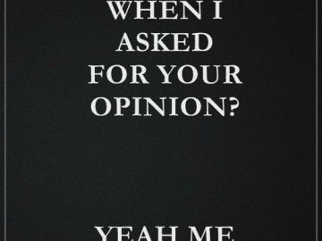 Funny Quotes About life Remember When I Asked For Your Opinion