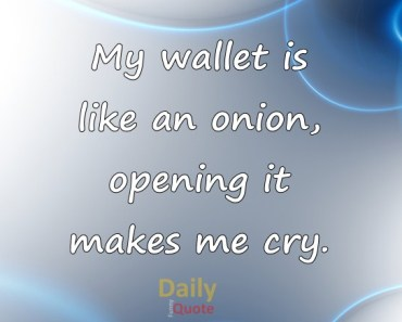 Money Quotes and Sayings My Wallet like Onion Why