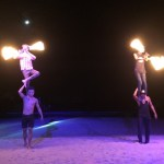 fire players at Sairee Beach