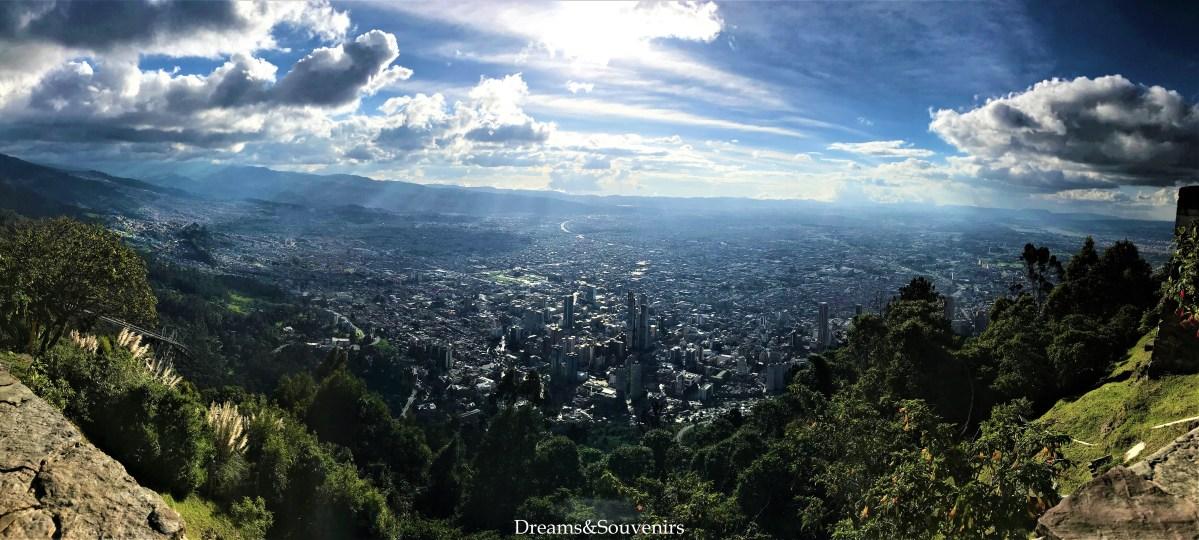 Bogotà dal Cerro de Monserrate