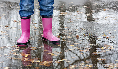 Boots In A Puddle