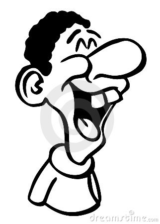 Cartoon Drawing Laughing Man Stock Image - Image: 14658751