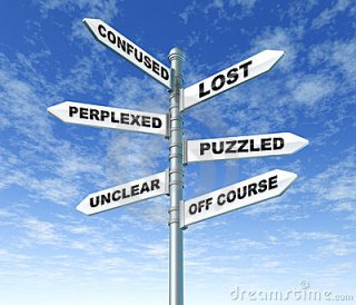 Confused Lost Puzzled Signpost Royalty Free Stock Images - Image: 16903019