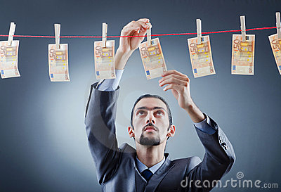 Criminal Laundering Dirty Money Royalty Free Stock Photos - Image: 22656618