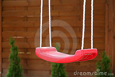 Empty red swing Stock Photos - Image: 16330543