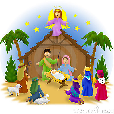 nativity cliparts kids