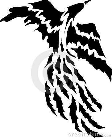Stock Images: Phoenix Bird Tattoo