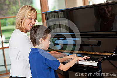 Piano Lessons Stock Photography - Image: 25793862