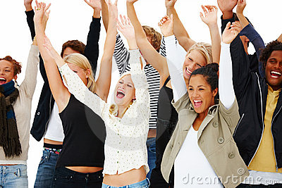 Successful School Students Celebrating Victory Stock Images - Image: 6985364