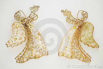 Two Golden Angels Royalty Free Stock Photo - Image: 3837775
