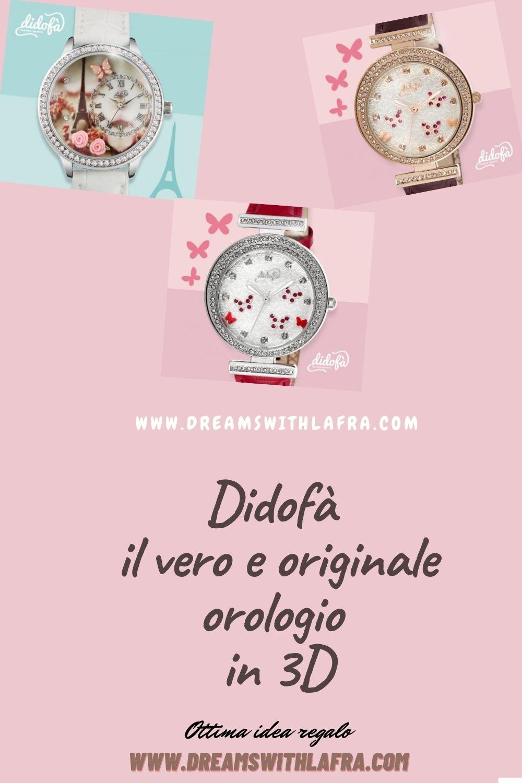 Didofà il vero e originale orologio in 3D è una splendida idea regalo
