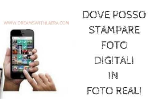 DOVE POSSO STAMPARE FOTO DIGITALI IN FOTO REALI SU IMPRIFY