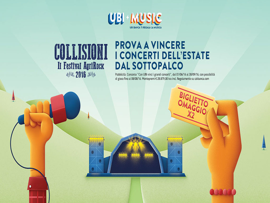 Concerti dell'estate 2016con UBI banca: cosa si vince