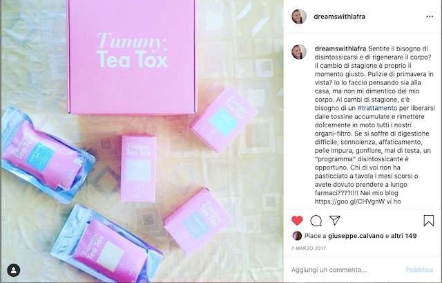 Come funziona il programma Tummy Tea Tox