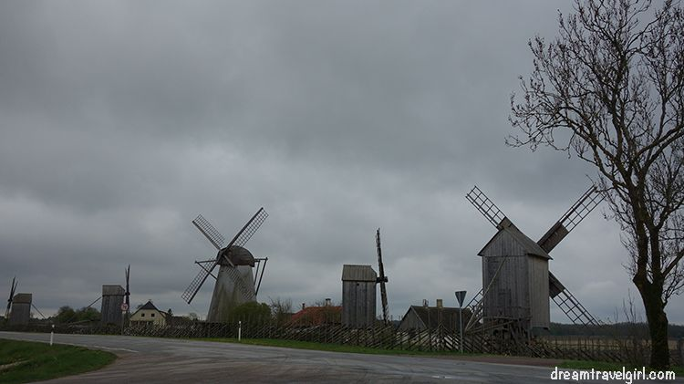 from left to right: Vilidu, Viita, Tedre, Reinu and Laose windmills (yes, they have a name)
