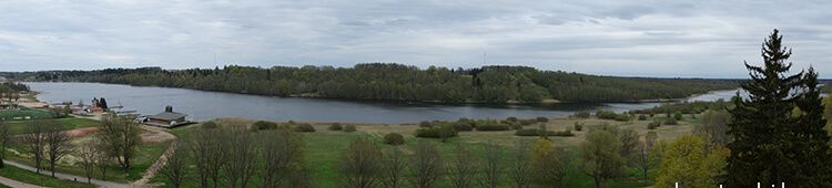 Viljandi lake (it looks like a river, but it is a long lake)