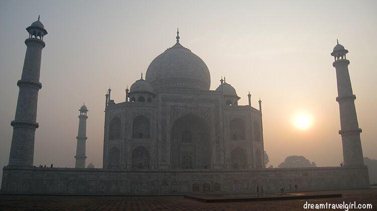 Taj Mahal during the sunrise