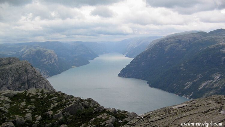 Views from the Preikestolen, near Stavanger (South of Norway)