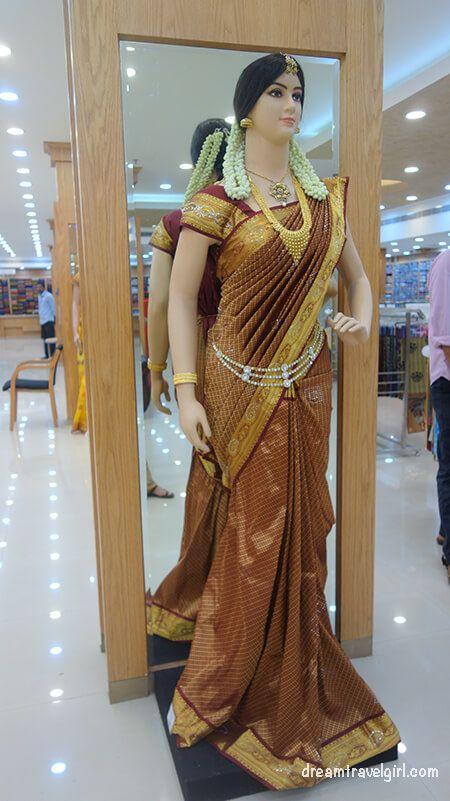 My best moment in Kalpetta, Wayanad, where I went alone: entering a wedding sari shop!