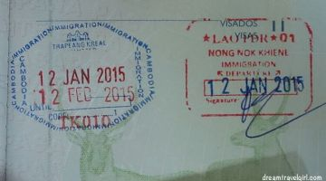 Border crossing Laos – Cambodia