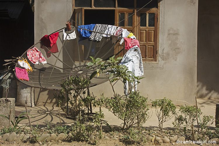 Any place is good to dry clothes