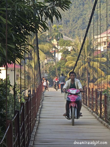 The first time I saw a scooter on the bridge I got scared, but after that I got used