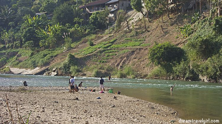 They had a lot of fun fishing in the river