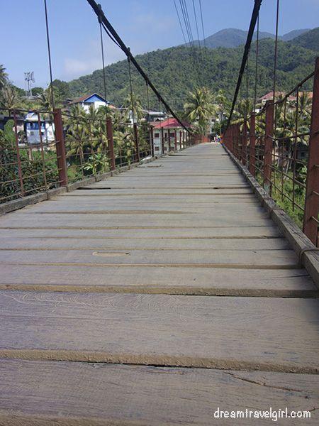 It was so fun to cross the bridge...