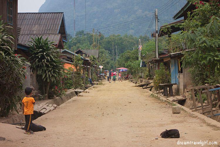 The main street in Muang Ngoi Neua