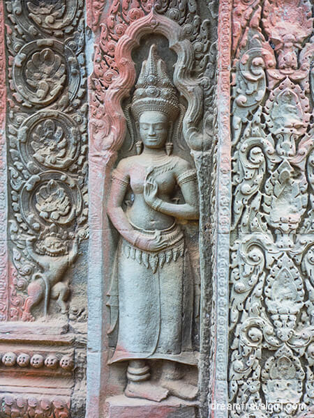 Carvings in Ta Prohm temple