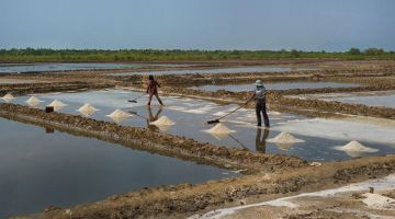 Kampot: colonial town and salt fields