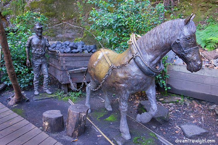 Coal mining sculpture