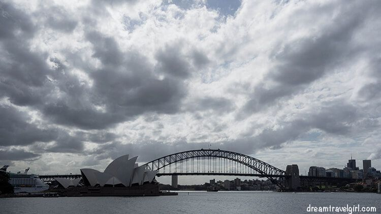 Cloudy day in Sydney