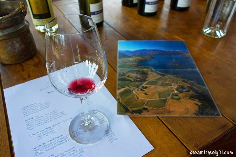 Wine tasting in Wanaka