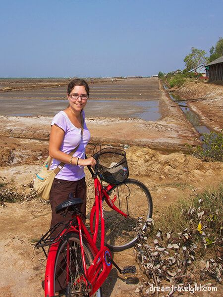 Salt flats by bicycle, Cambodia
