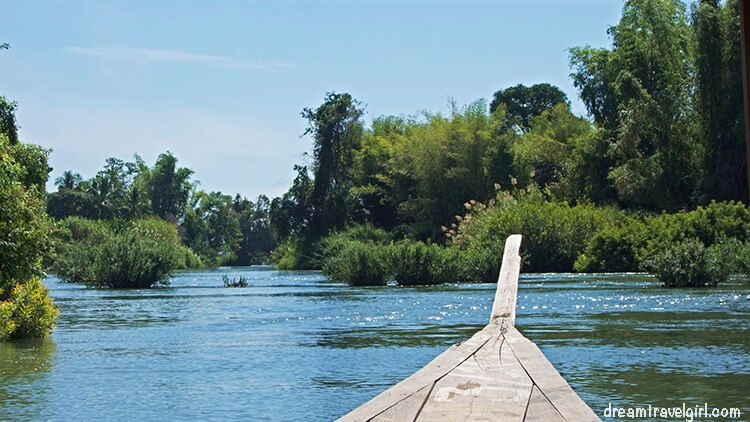 Boat transport in 4000 islands, Laos
