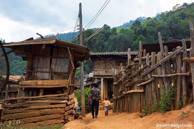 Random street in the Lahu village